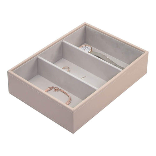 Blush Pink Stackers Jewellery Box 3 Deep Sections