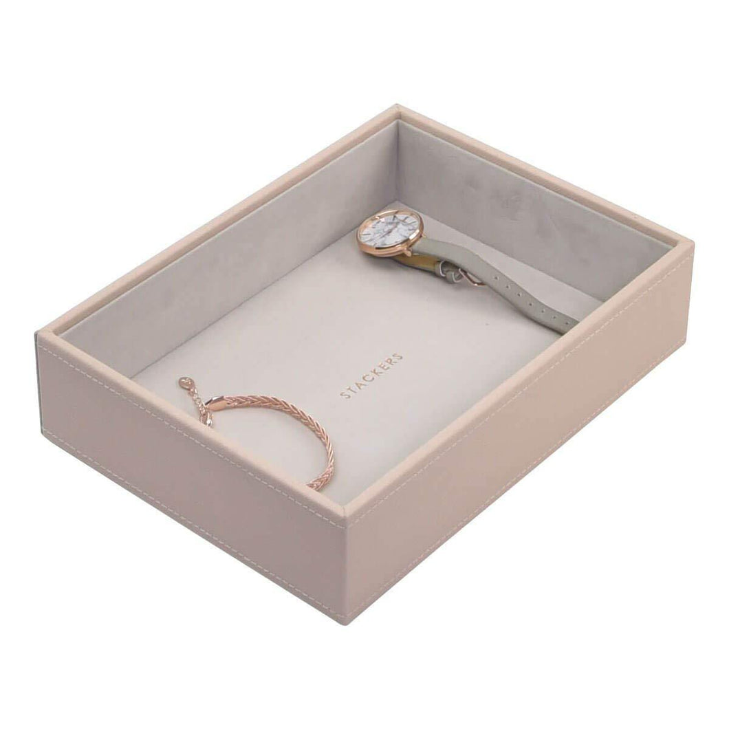 Blush Pink Classic Size Stackers Jewellery Box Deep compartment tray