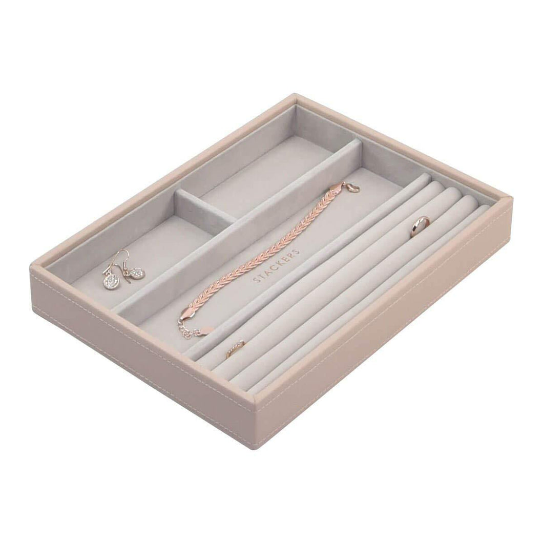 Blush Pink Classic Size Stackers Jewellery Box Rings layer Tray