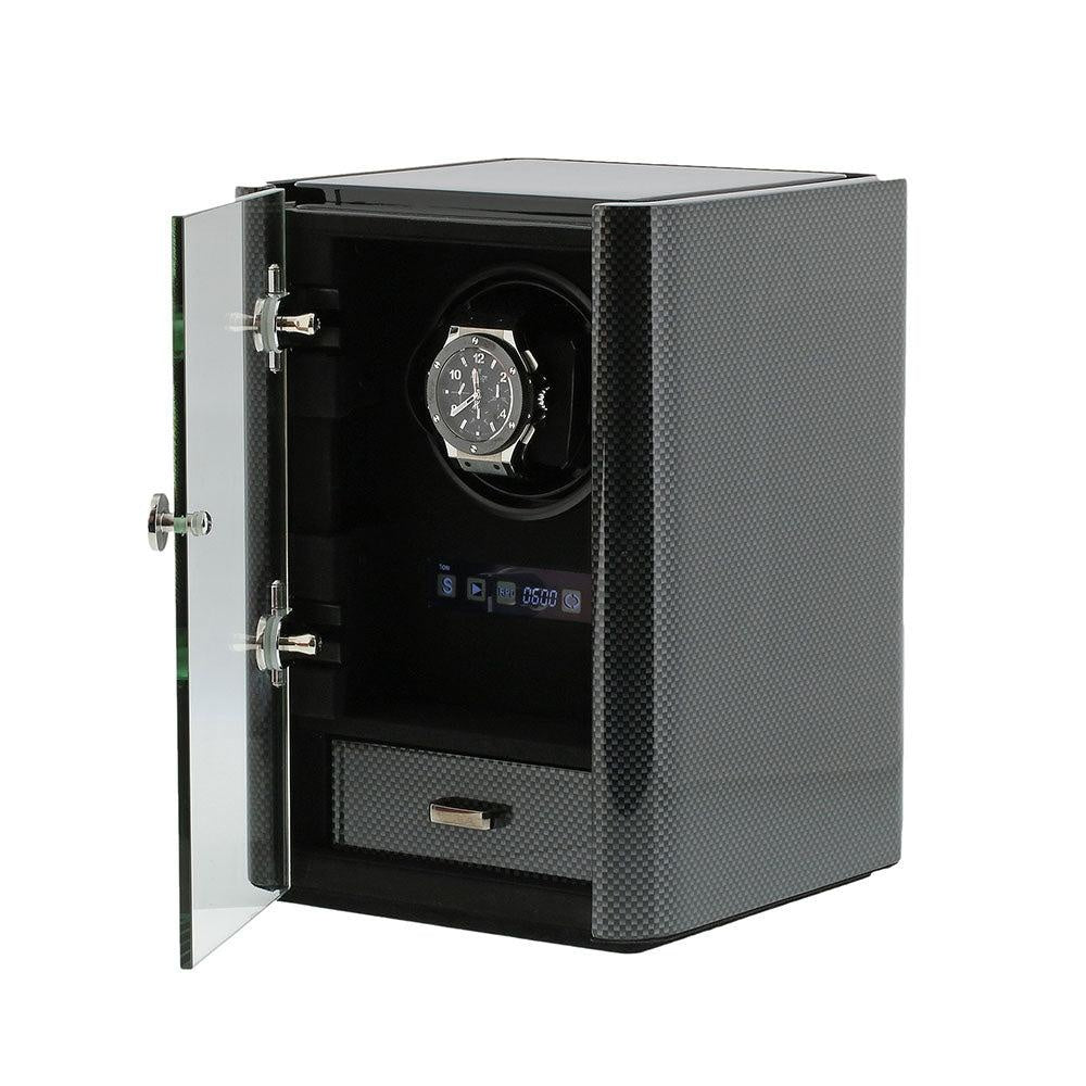 Watch Winder for 1 Automatic Watch Carbon Fibre Finish the Classic Collection by Aevitas
