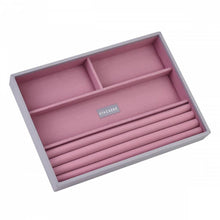 Load image into Gallery viewer, Dove Grey with Antique Pink Classic or Medium Size Stackers Set of 4 Jewellery Box Trays