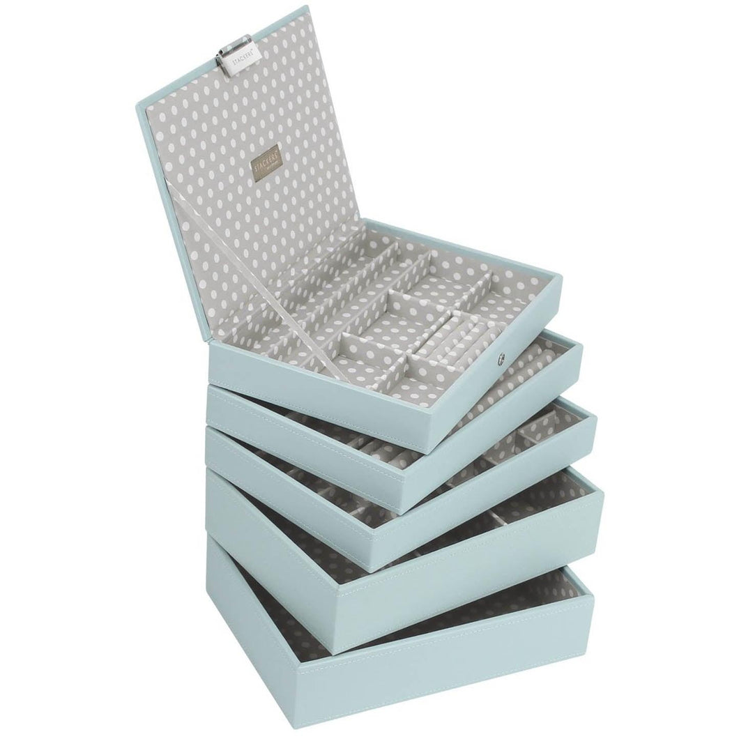 Stackers Duck Egg Blue Classic Size Set of 5