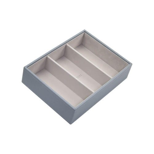 Dusky Blue Stackers Jewellery Box 3 Deep Sections