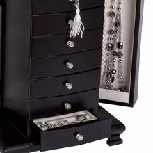 Load image into Gallery viewer, Hour Glass Black Java Finish Wooden Jewellery Box - Layla by Mele & Co