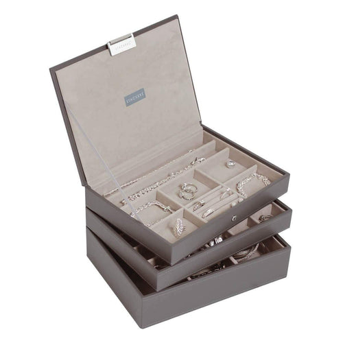 Mink Premium Classic Size Stackers Jewellery Box Set of 3 Trays