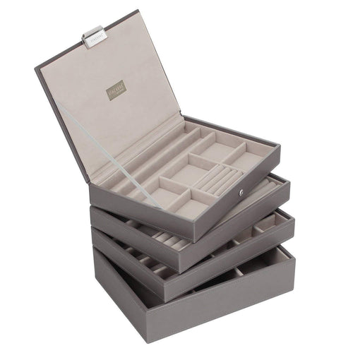 Mink Premium Classic Size Stackers Jewellery Box Set of 4 Trays