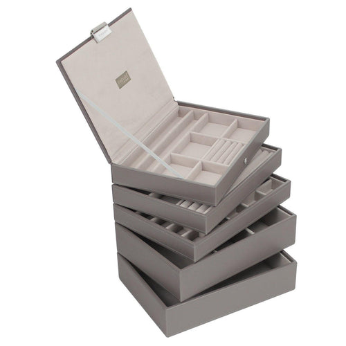 Mink Premium Classic Size Stackers Jewellery Box Set of 5 Trays