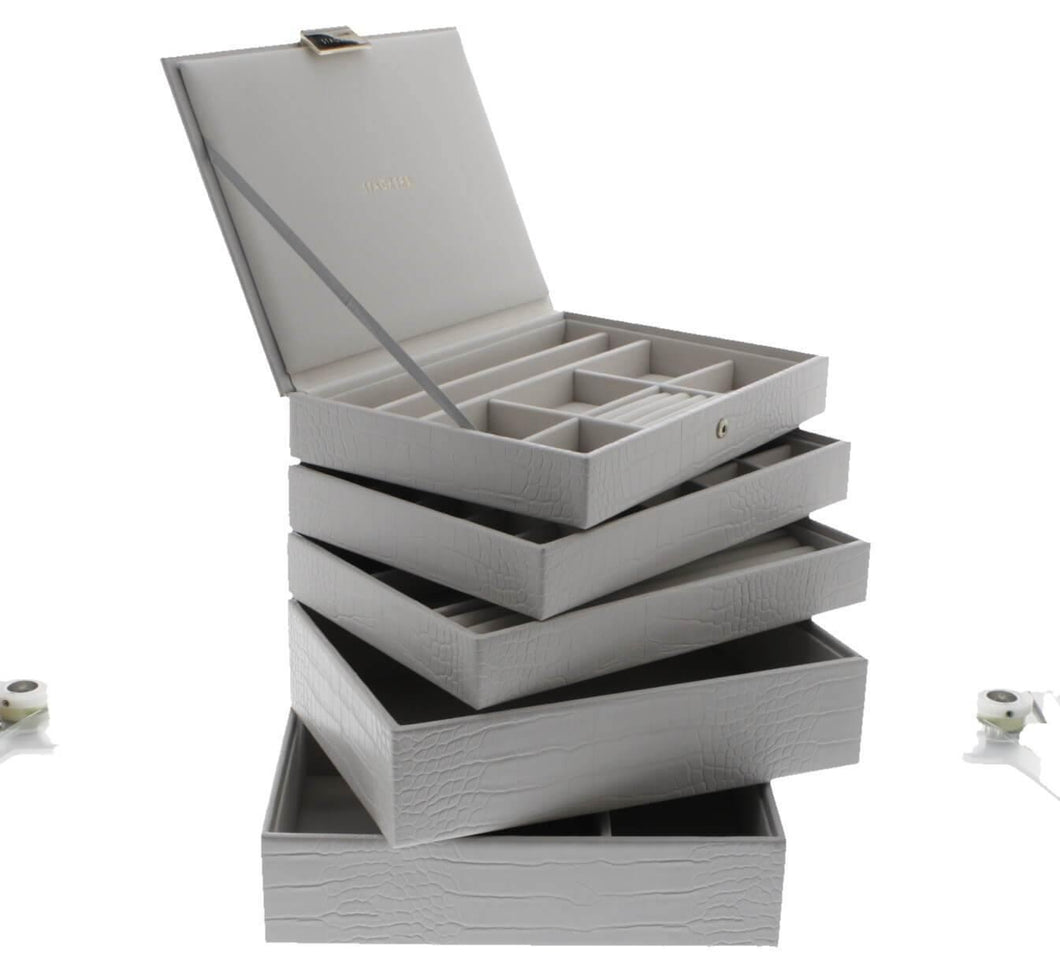 Putty Croc Classic or Medium Size Stackers Set of 5 Jewellery Box Trays