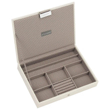 Load image into Gallery viewer, Vanilla with Mocha Lining Classic Size Stackers Lidded Tray