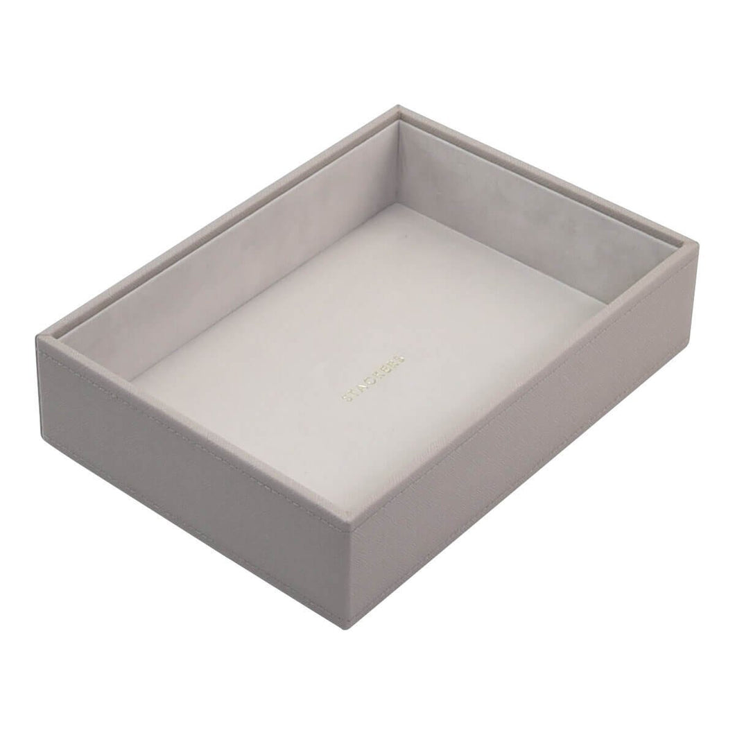 Taupe PREMIUM Stackers Mink Jewellery Box Deep Open Tray