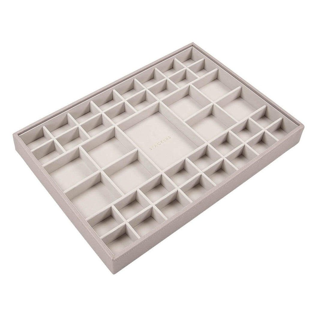 Taupe Premium SuperSize Stackers Small Section Tray