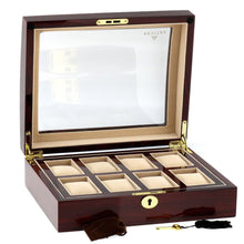 Load image into Gallery viewer, High Quality Watch Collectors Box for 8 Watches with Rose Wood Veneer High Gloss Finish by Aevitas