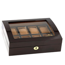 Load image into Gallery viewer, High Quality Watch Collectors Box for 8 Watches with Walnut Veneer High Gloss Finish by Aevitas