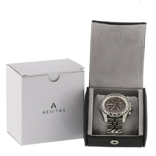 Black Faux Leather Watch Travel Case by Aevitas
