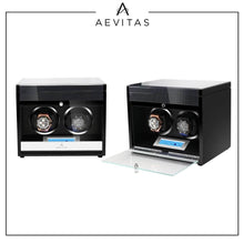 Load image into Gallery viewer, 2 Watch Winder in Carbon Fibre Finish by Aevitas Gifts in Time