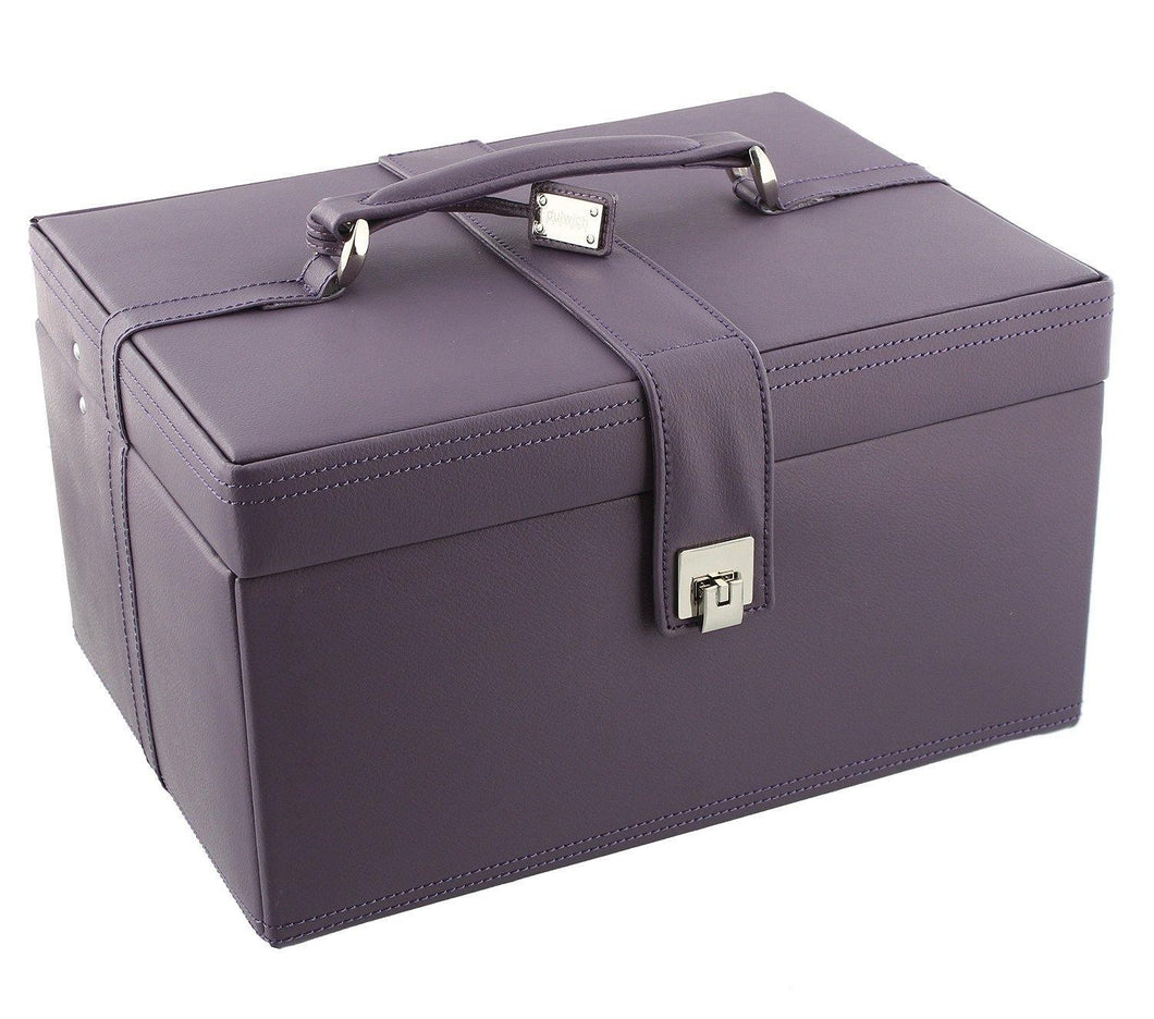 Naples Mauve Leather Jewellery Box XL by Dulwich Designs
