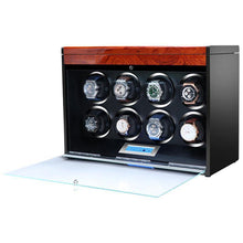 Load image into Gallery viewer, Aevitas Watch Winder for Eight Automatic Watches in Mahogany Finish