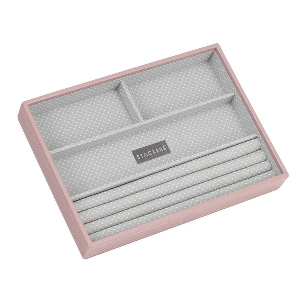 Soft Pink Classic Size Stackers Jewellery Box Rings layer Tray