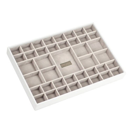 White Premium Super Size Stackers Small Section Tray