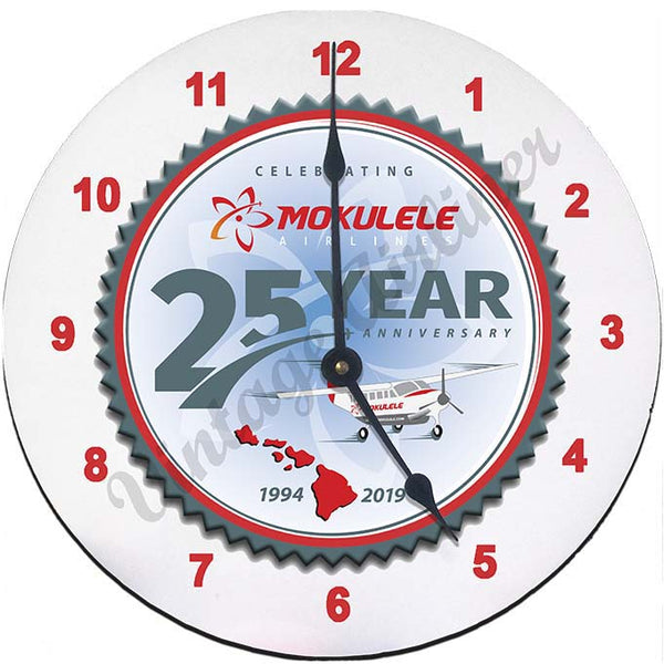25th Anniversary logo clock