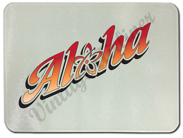 Alohalele logo cutting board