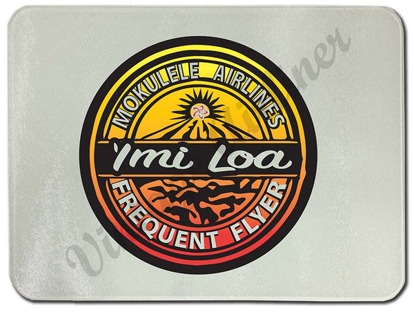 Imi loa frequent flyer logo cutting board