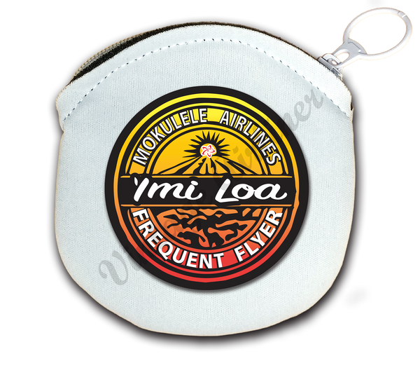 Imi Loa Frequent Flyer logo round coin purse