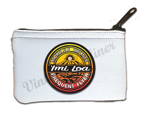 Imi Loa Frequent Flyer logo rectangular coin purse