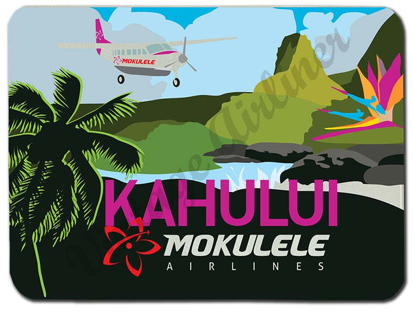 Mokulele Airlines Cutting Board with illustration of Kahului