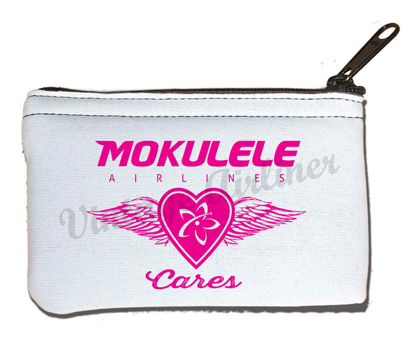 Mokulele Airlines breast cancer awareness logo rectangular coin purse