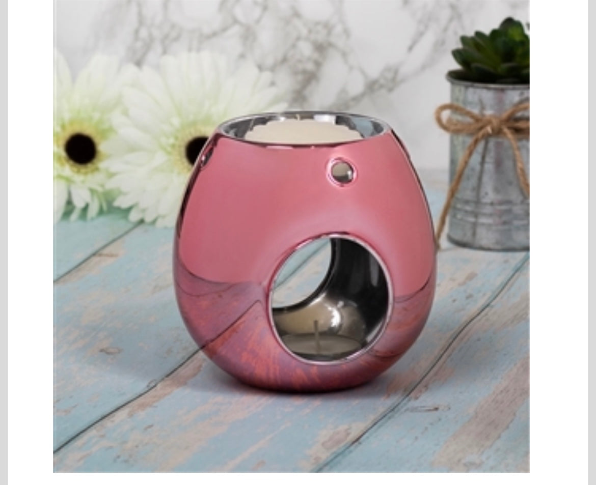 Wax Burners - Luxury Pink Glass Wax Melter