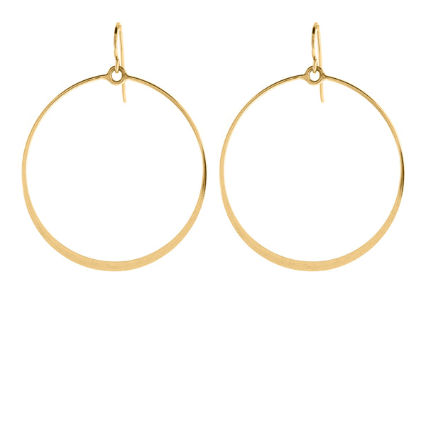 ASHLEY CIRCLE GOLD EARRING
