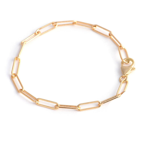 large golden links bracelet