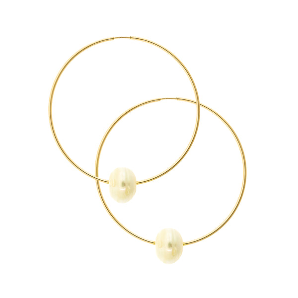 CoCo Gold Infinity Hoop With Pearl