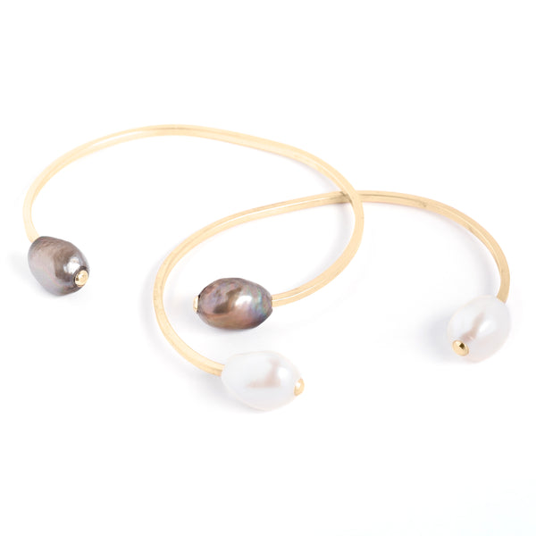 dueling pearl cuff / gold
