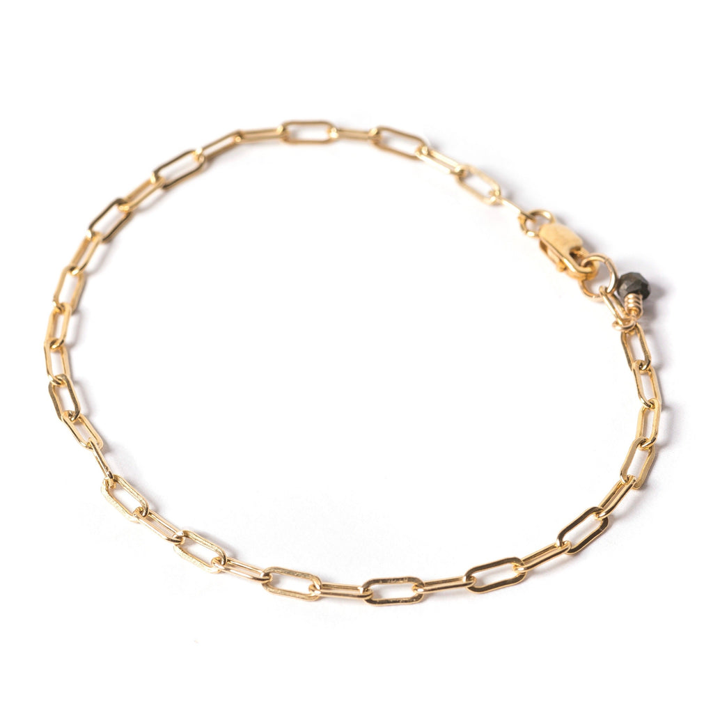 golden links - small link bracelet