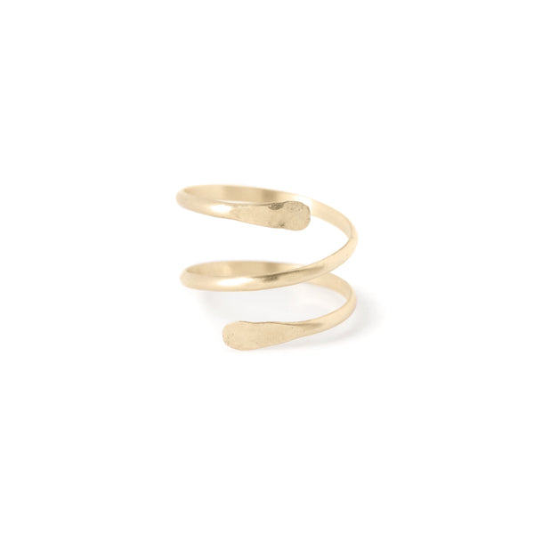 snake ring - 14kt gold filled