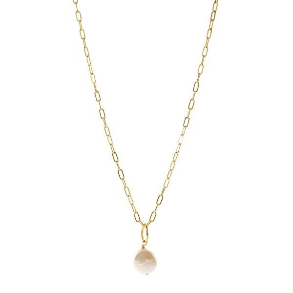 Esther Coin Pearl Necklace