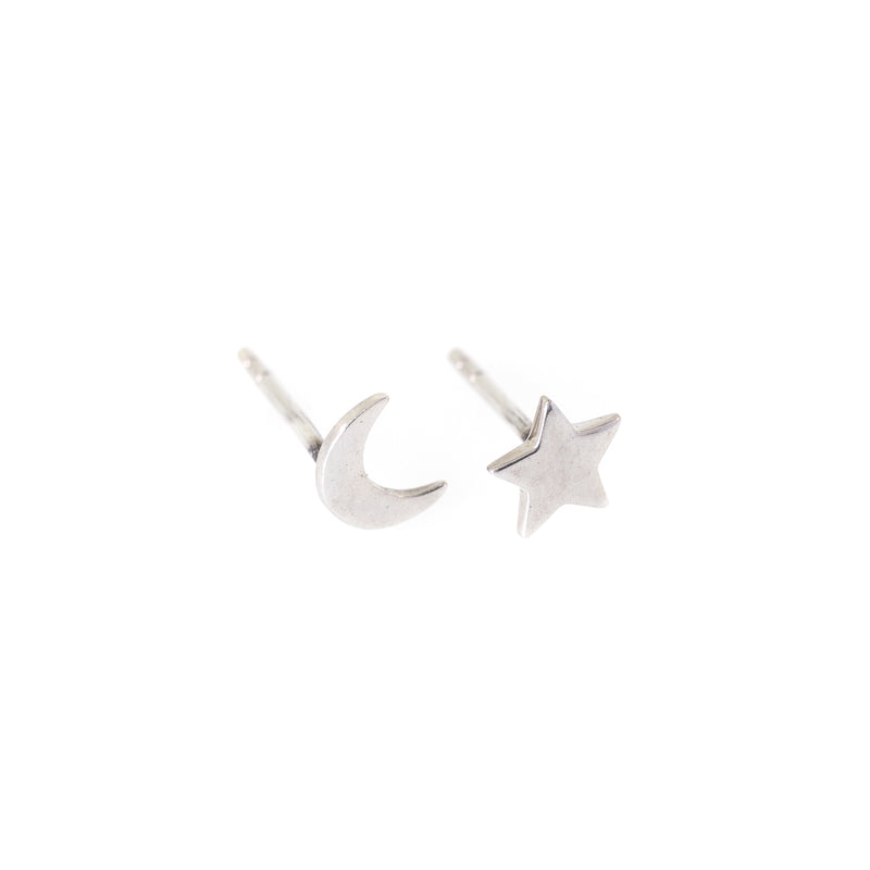 TWILIGHT MOON & STAR STUDS