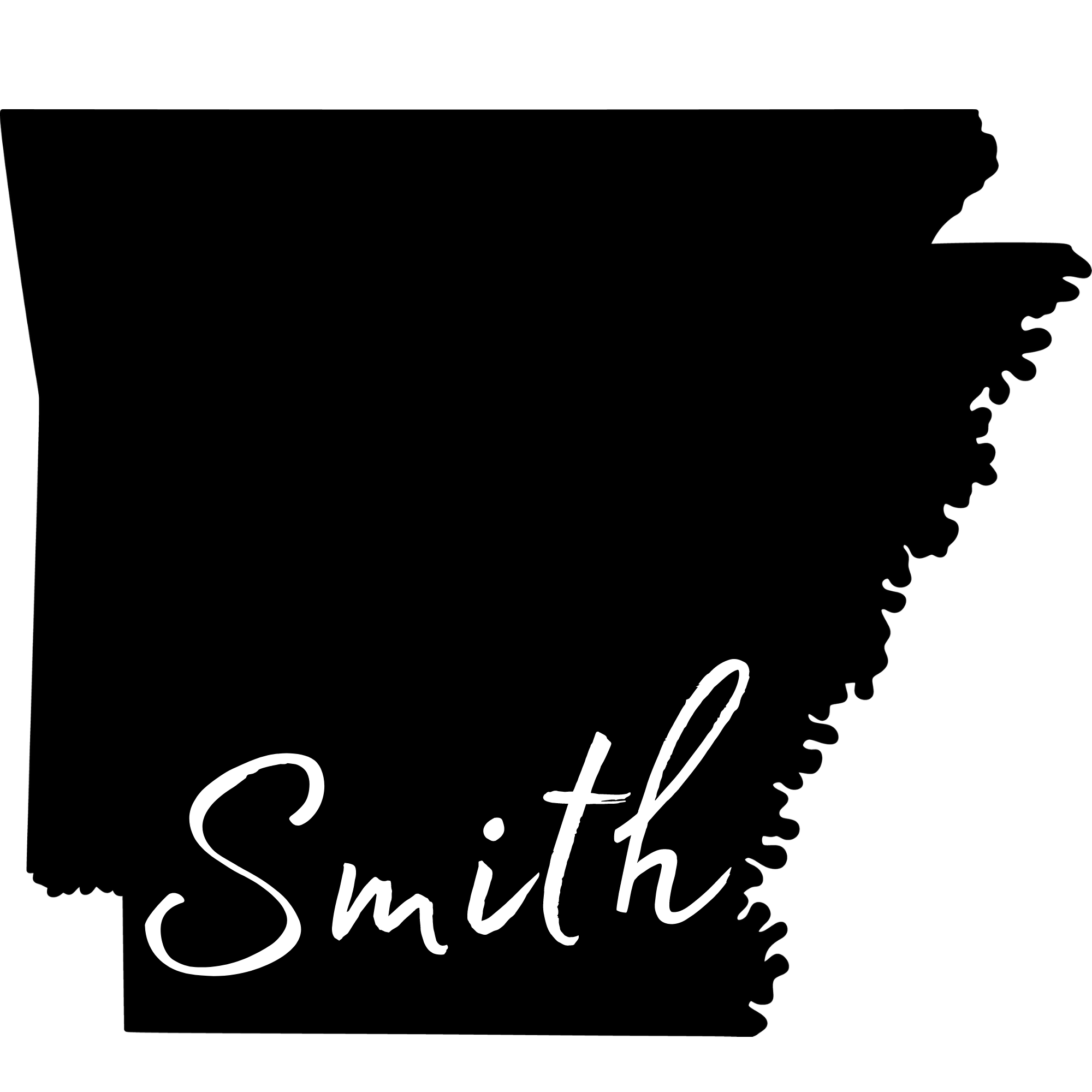 Arkansas Silhouette Family Name Metal Sign