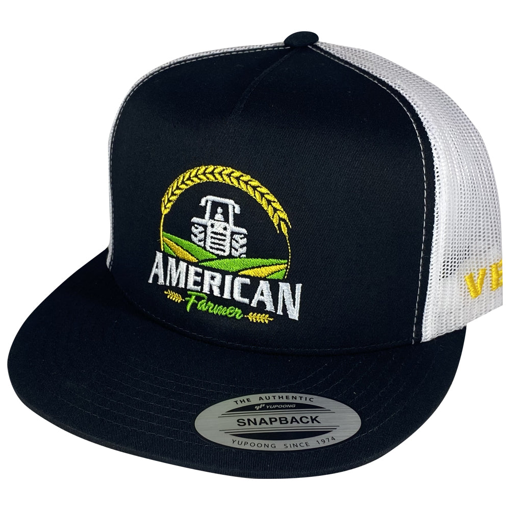 American Farmer - Black/White Mesh