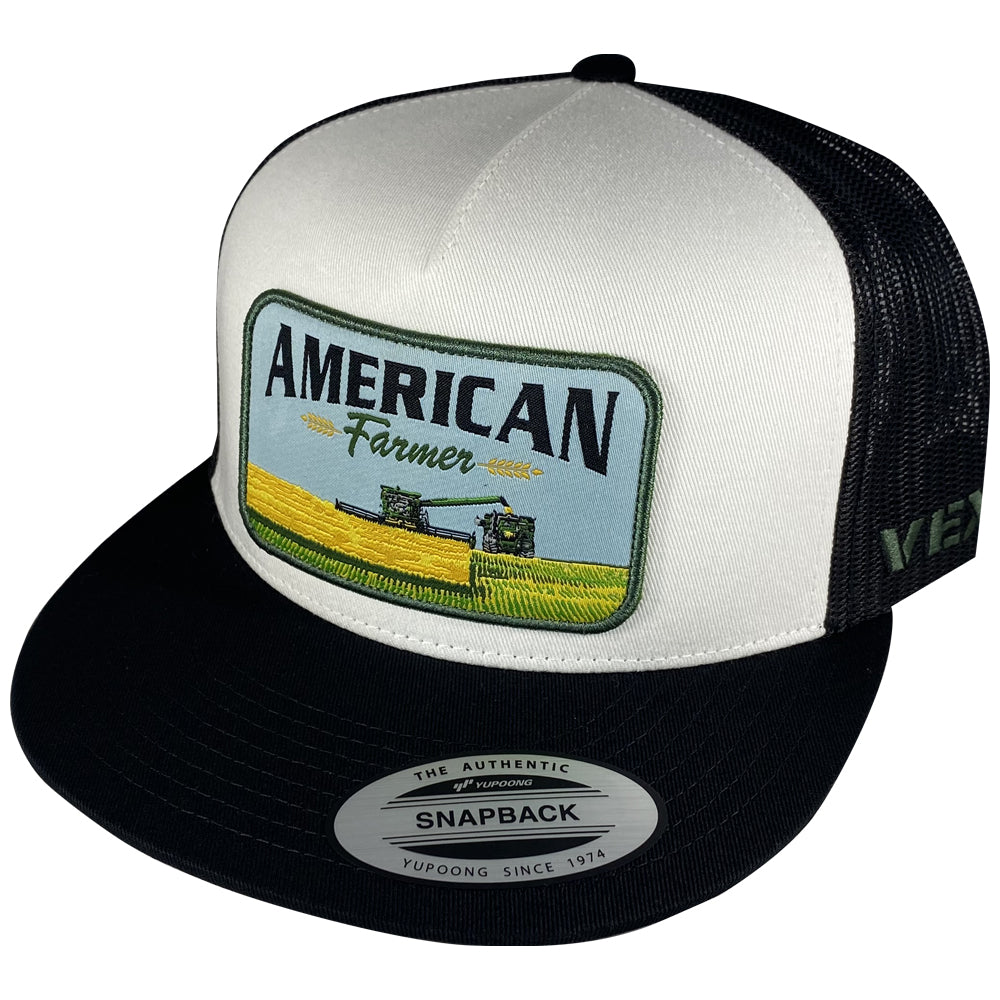 American Farmer - Harvest - Black/White/Black Mesh