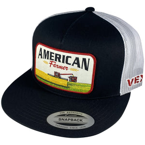 American Farmer - Harvest - Black/White Mesh
