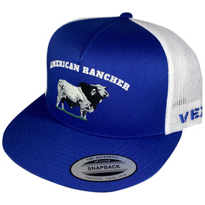 American Rancher - Bull - Royal Blue/White Mesh