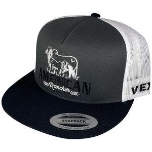American Rancher - Cow/Calf - Black/Charcoal/White Mesh