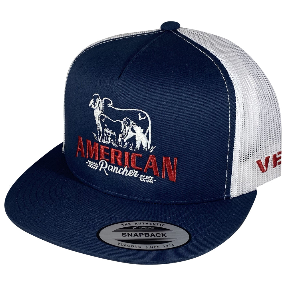 American Rancher - Cow/Calf - Navy/White Mesh