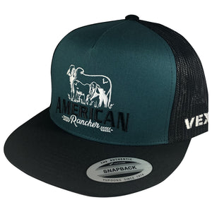 American Rancher - Cow/Calf - Black/Teal/Black Mesh