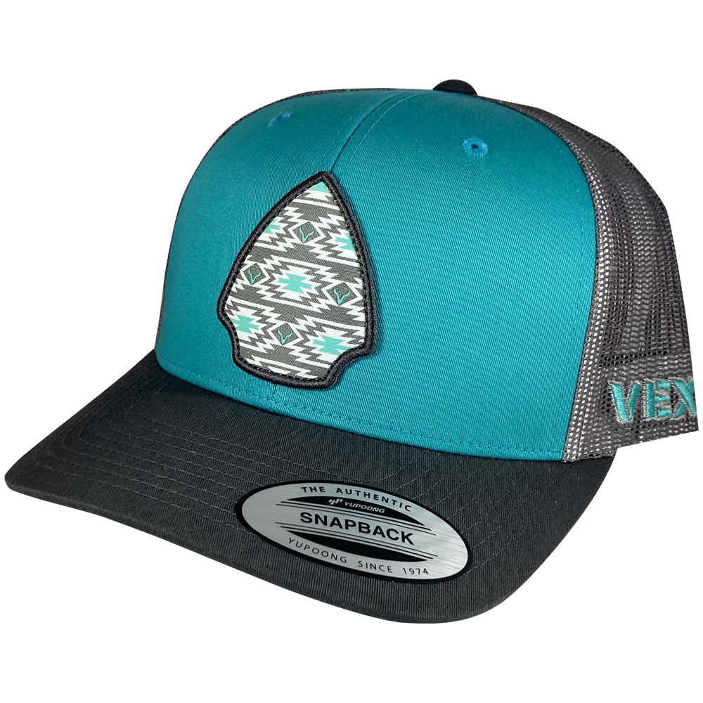 Arrowhead - Charcoal/Turquoise/Grey Mesh