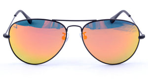 Vexil Brand Chute Boss Sunglasses - Matt Black - Orange Mirror Polarized Lens