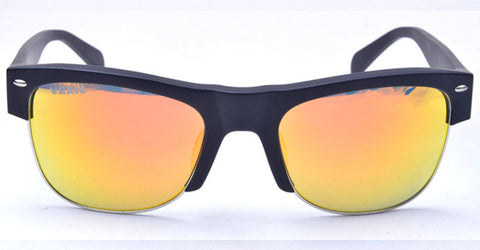 Vexil Brand Odessa Sunglasses - Black Matt - Orange Mirrored Polarized Lens